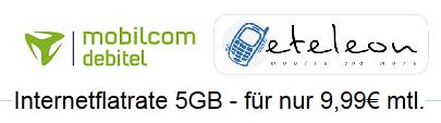 [eteleon] mobilcom debitel 5GB Internetflat für monatlich 9,99€