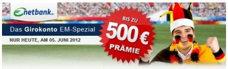 Bis zu 500€ Prämie für eine netbank Kontoeröffnung – 125€ aber Garantiert