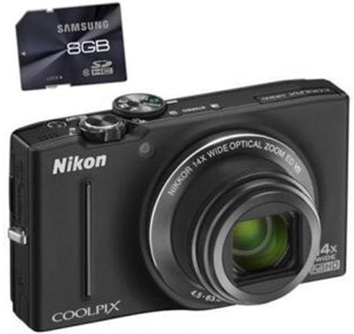 [redcoon] Match Deal: 16 MP Digitalkamera Nikon Coolpix S8200 mit 8GB SD Karte Preis nach Toren.