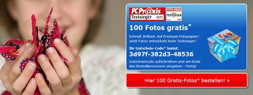 [Pixum] 100 Fotoabzüge (10x15 cm) für 2,94€
