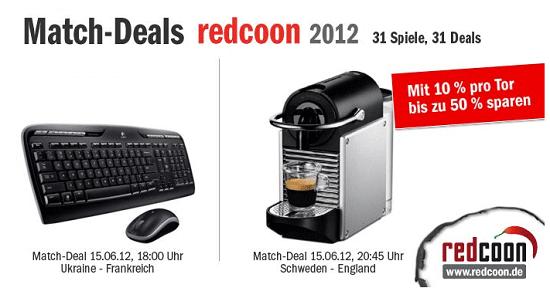 [redcoon] Spielende Match Deals: Nespressomaschine DeLonghi Pixie EN 125.S inkl. Versand 67,49€ (Vergl. 112,90€)