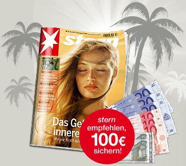 [Abo Knaller] Stern Magazin für 174,20€ im Jahresabo + 100€ Verrechnungsscheck
