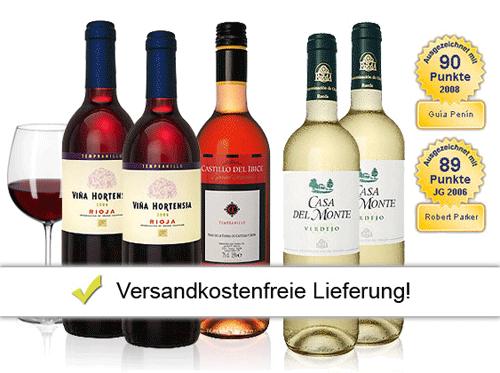 [ebrosia] Spanisches Weinpaket für 29,99€ inkl. Versand (statt 50,87€)