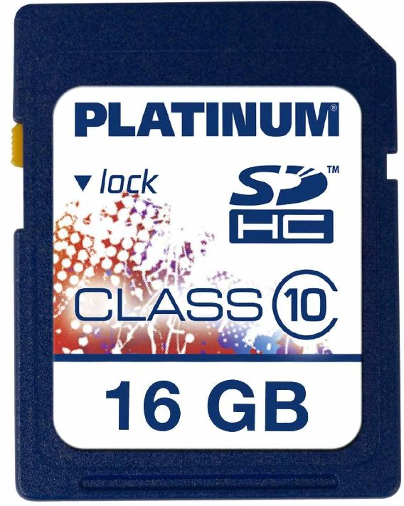 [ebay Wow] 16 GB SDHC Speicherkarte: Platinum Class 10 inkl. Versand 7,49€