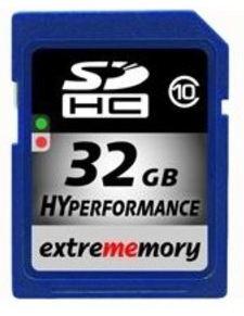 [meinpaket.de] SDHC Speicherkarte: 32GB Extrememory, Class10 inkl. Versand 15,99€