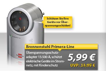 [MeinPaket OHA] Überspannungsschutzadapter: Brennenstuhl Primera Line für 5,99€ inkl. Versand