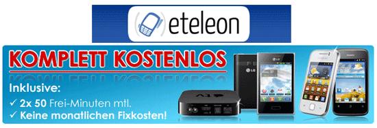 [eteleon] Schubladenvertrag + gratis Smartphones mit Haken
