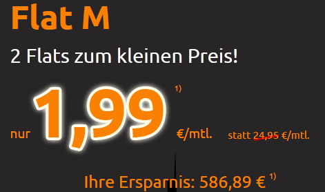 [Crash Tarife] Flat ins Festnetz und o2 Netz für monatlich 1,99€