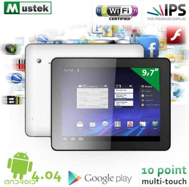 [iBOOD] Android 4.0 Tablet: Mustek TB110 24,7cm Aluminium Body inkl. Versand  205,90€