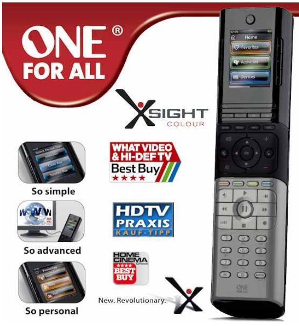 [iBOOD] Fernbedienung: One For All Xsight Colour 8602, inkl. Versand 45,90€