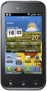 LG Optimus Sol für 72,89€   Android Smartphone mit Gigahertz Prozessor und AMOLED Display