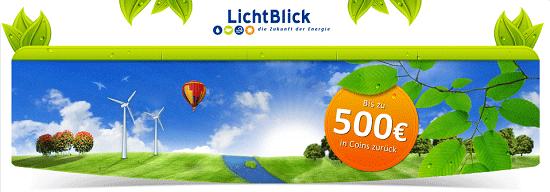 [hgwg] 6 Monate 50% Stromkosten bei LichtBlick Ökostrom sparen