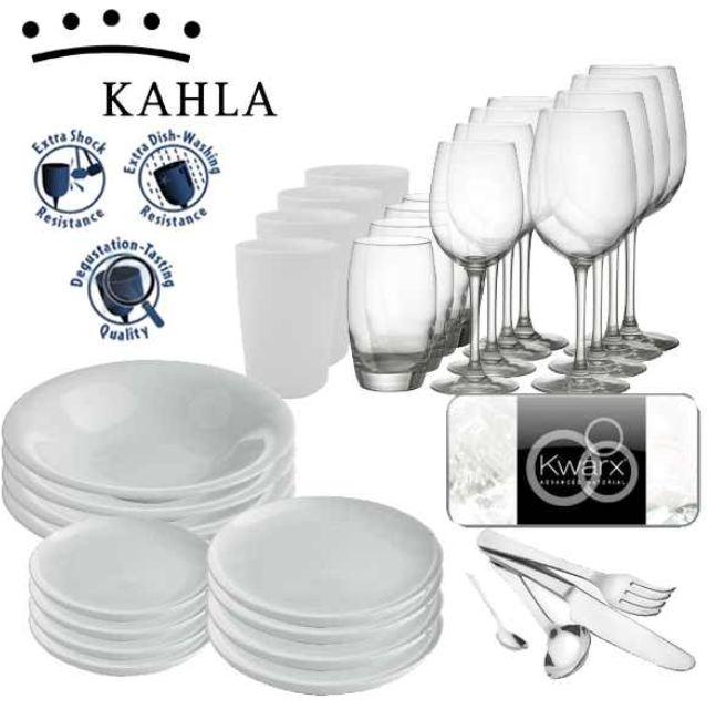 [iBOOD] Kahla Design: Set bestehend aus Kwarx Gläsern, Tellern und Besteck inkl. Versand 78,90€