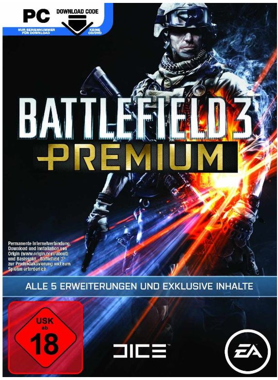[ebay] Knaller! PC Download Version: Battlefield 3 Premium Edition nur 32,60€ (Vergleich 42€)