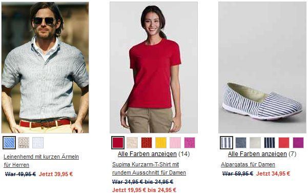 [Lands´End] Sale: 60% Rabatt und 10€ Gutschein (MBW25€)!