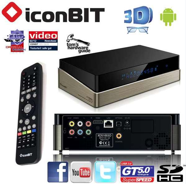 [iBOOD] 3D Mediaplayer: Iconbit XDS1003 inkl. Versand nur 135,90€