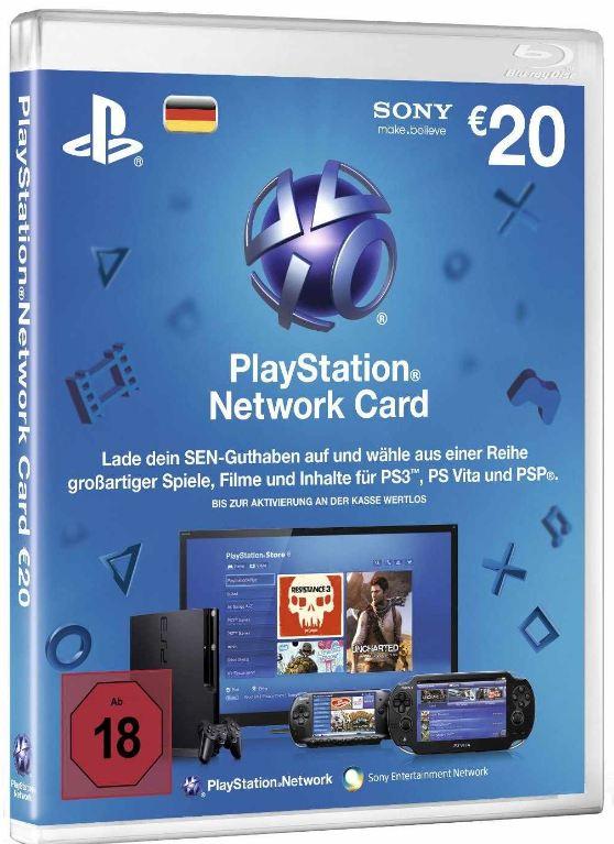 Wieder da! 40€ Playstation Network Card für 30€!