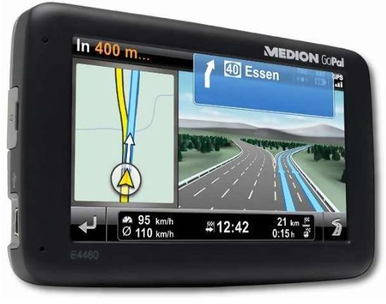 [ebay Wow] Navi: MEDION GoPal E4460 EU+ (TMC TTS Bluetooth) inkl. Versand 89,99€