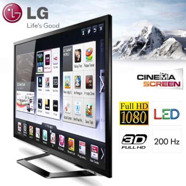 "[iBOOD] 47""er 3D Smart LED TV: LG LM620 (Dual Play, DLNA und Cinema Screen ) inkl. Versand 758,90€"