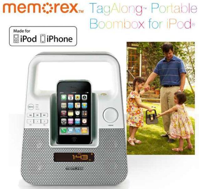[iBOOD] Tragbare Boombox: Memorex für iPod und iPhone inkl. Versand 35,90€