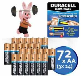 [iBOOD] Batterien: 72 Stück Duracell Ultra Power AA inkl. Versand 35,90€