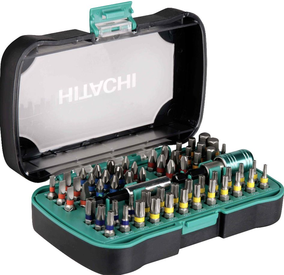 [ebay Wow] Hitachi 60 teiliges Schrauberbit Set mit Farbcodierung inkl. Versand 16,90€