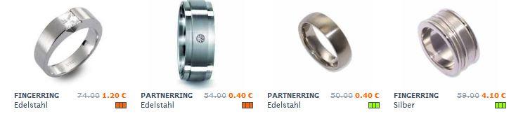 Rhomberg Sale: Stahl Ringe ab 0,40€, Titan Ringe ab 2€!