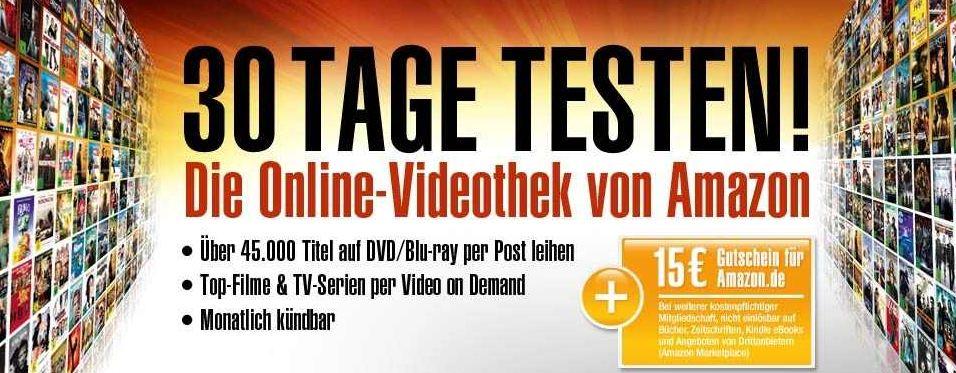 [Lovefilm] Update! Neukunden: 60 Tage testen für nur 4,99€ und 15€ Amazon Gutschein abstauben!