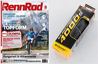 [RennRad] Radsportzeitschrift 5 Ausgaben + Reifen Continental Grand Prix 4000s für 9,80€