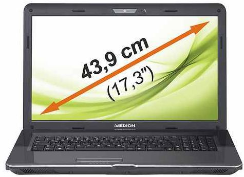 [ebay Wow] 17,3 Notebook: Medion P7624 HD (43,9cm intel i3 2,3GHz USB 3.0) inkl. Versand 429€
