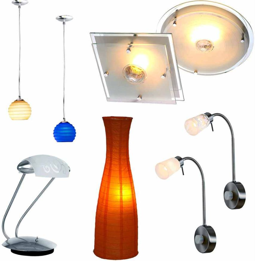 [ebay Wow] Innenleuchten: 16 verschiedene Modelle (Decken, Wand, Tisch, oder Steckerlampen) inkl. Versand je 9,99€