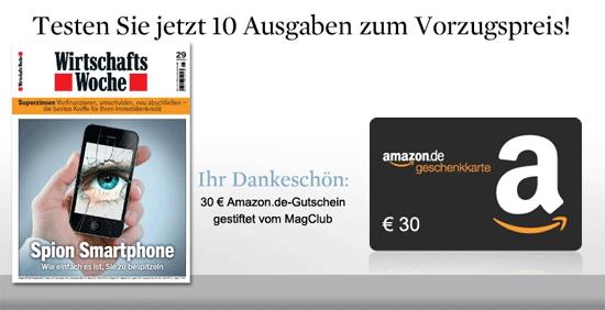 [MagClub] 10 Ausgaben WirtschaftsWoche für effektiv 1,50€ durch Amazon Gutschein