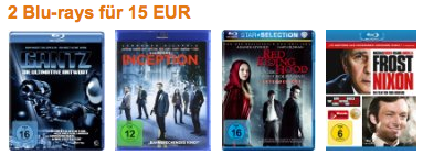 2 Blu rays inkl. Versand 15€