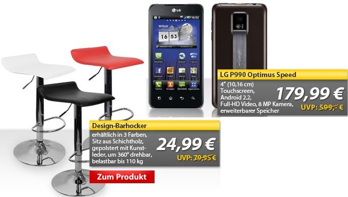 OHA Deals! LG P990 Optimus Speed für 179,99€