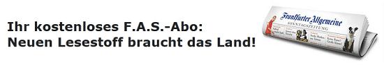 [Tipp!] kostenlos für Studenten: 1 Jahr Frankfurter Allgemeine Sonntagszeitung