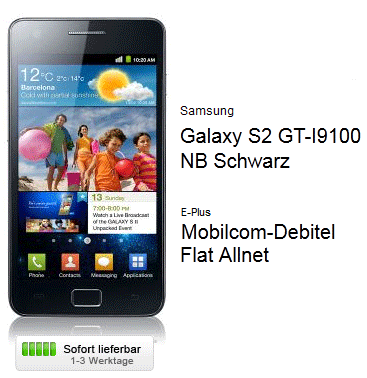 [Logitel] Samsung Galaxy S2 für 22,90€ + Allnet Flat für 29,90€ monatlich