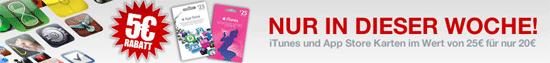 [Gravis] 25€ iTunes Guthabenkarte für 20€