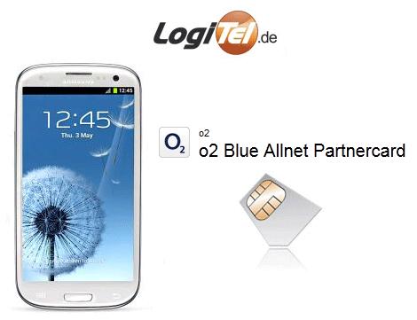 [Logitel] Top! o2 Partnercard Tarife mit Samsung Galaxy S3 ab 300,90€ inkl. Versand