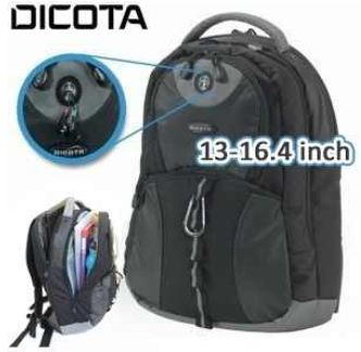 [iBOOD] 13   16.4 Notebook Rucksack: Dicota   BacPac Mission in schwarz, für inkl. Versand nur 35,90€