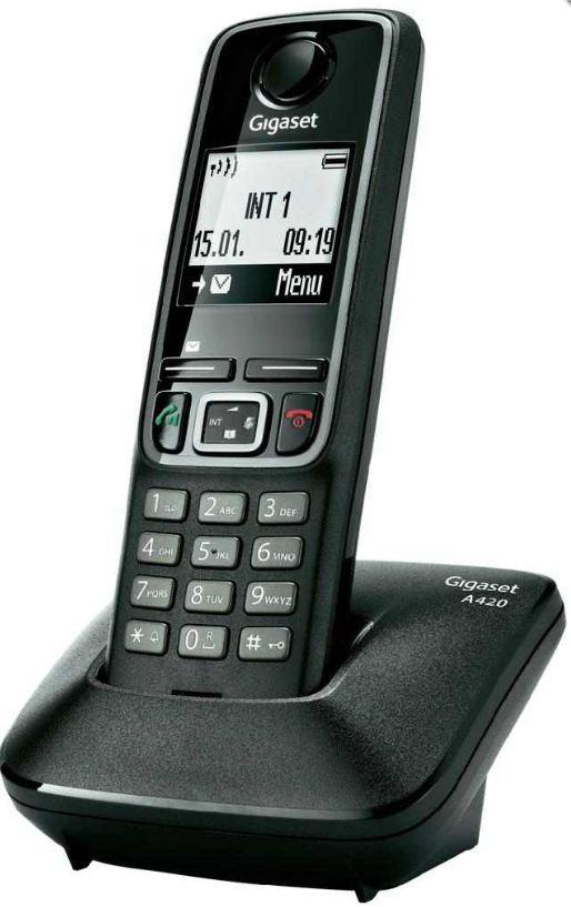 [digitalo] Gigaset: A420 DECT Telefon (Telefonbuch für 100 Einträge, 20 h Gesprächszeit) inkl. Versand 26,20€