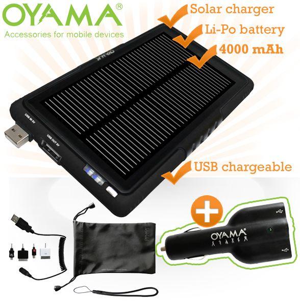 [iBOOD] Solarladegerät: Oyama Maxi Tablet mit Akku 4000mAh inkl. Versand 45,90€