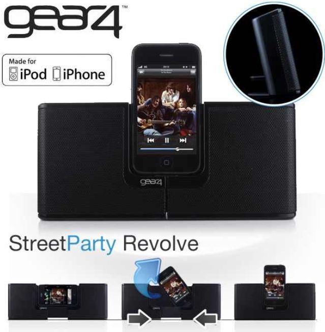 [iBOOD] mobiler Lautsprecherdock: Gear4 Street Party Revolve für iPod und iPhone inkl. Versand 30,90€