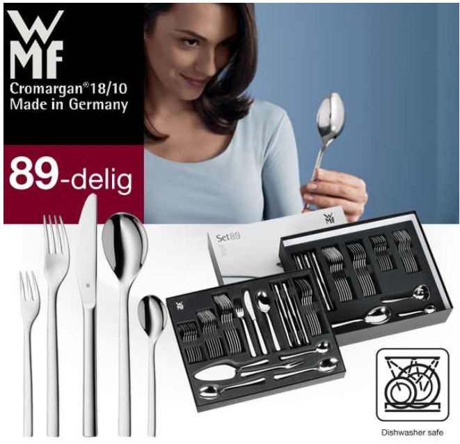 [iBOOD] Besteckset: WMF Atria, 89 teilig aus Cromargan inkl. Versand 188,90€