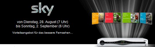 [Update] Sky komplett inkl. HD, Sky Go und Festplattenreceiver für 33,90€ monatlich!