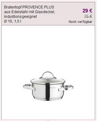[Vente Privee] Update: WMF SALE (Bestecke, Pfannen, Töpfe...etc)!