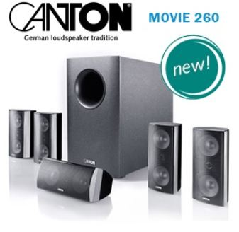 [iBOOD] Heimkinosystem: Canton Movie 260 5.1 mit aktivem Subwoofer inkl. Versand 308,90€
