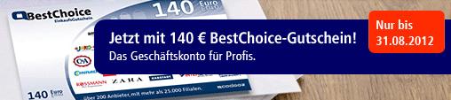 [Postbank] Business Girokonto mit 140€ Gutschein von BestChoice