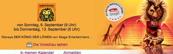 König der Löwen Musical Tickets bis zu 50% billiger?!