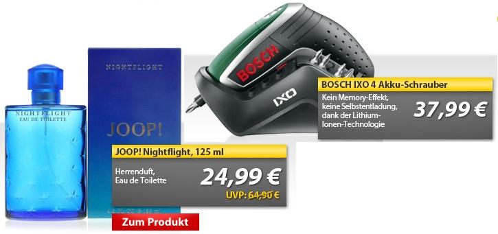 OHA Deals! (BOSCH IXO 4 & JOOP! Nightflight)