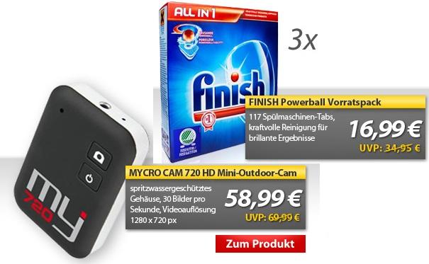 OHA Deals! (MycroCam 720p Cam für 58,49€ & Vorratspack Finish Powerball (117 Tabs) für 13,99€)